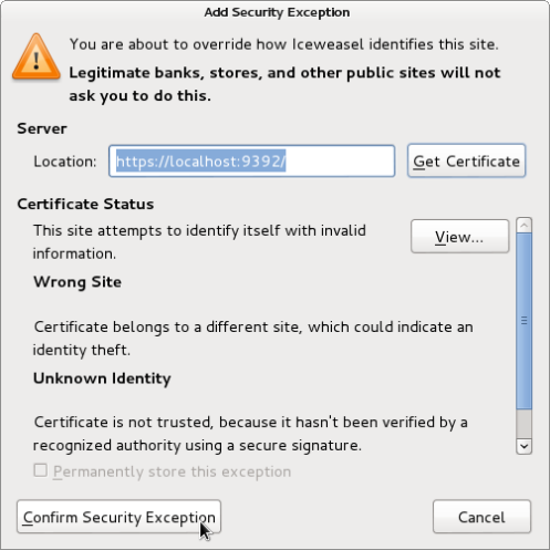 openvas3 add security exception