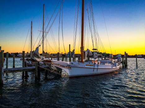 The Wilma Lee at sunset -- Ocracoke, North Carolina (January 2014)iPhone 5S + 30/2.2