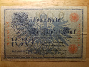 Imperial German 100 mark note front